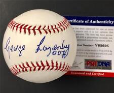 "James Bond actor GEORGE LAZENBY ""007"" inscription signed MLB Baseball ~ PSA COA"