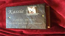 Pet Memory Box & Personalised Photo Plaque / Oak Urn Ashes Memorial Medium Dog