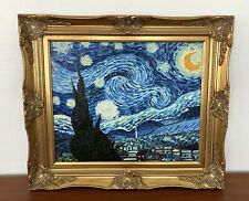 Vincent Van Gogh STARRY NIGHT Real Oil Painting•Impressionism•Landscape