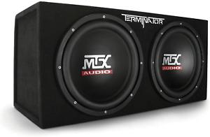 MTX Audio Terminator 1,200 Watt 400 Watt RMS Dual 12-Inch Subwoofers Enclosure