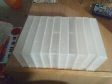 30 EMPTY VHS VIDEO TAPE STORAGE CASES Clear Up Cycle Retro Cheap Free Posting