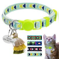 Collier Anti-étranglement & Médaille avec Grelot pour chat ou tout petit chien