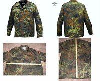 "NEW German Flecktarn Camo Bundeswehr Field Shirt /Jacket (Size XL/GR.15)48""Chest"