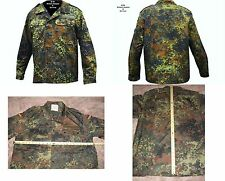 "NEW German Flecktarn Camo Bundeswehr Field Shirt /Jacket (Size XL/GR.15)48""Chest"