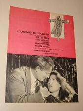 L'UOMO DI PAGLIA PIETRO GERMI FILM=ANNI '50=PUBBLICITA=ADVERTISING=537