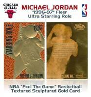 MICHAEL JORDAN 1996-97 Fleer Ultra Starring Role FEEL THE GAME 23KT Gold Card