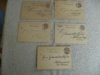 Deutsche Reichspost 1883- 1886 Postkarte gelaufen