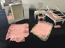 Vintage Barbie Doll Suzy Goose Furniture, Armoire, Vanity,Bed & accesories 60s