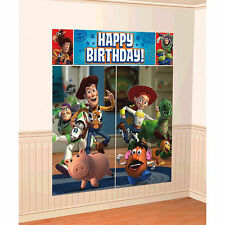 DISNEY TOY STORY SCENE SETTER Happy Birthday Party Wall Decoration Decor WOODY B