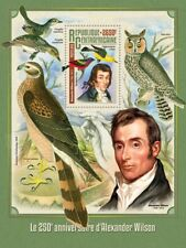 Central African Republic 2016 MNH Alexander Wilson 1v S/S Owls Birds Art Stamps