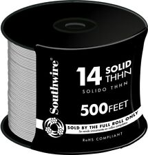 Southwire 500 ft. Electrical Wire 14 Gauge White Solid THHN CU Single Conductor