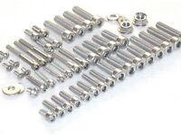 Suzuki RG125 Gamma Engine & Cylinder 47pc Stainless Allen Bolt Nut Kit 1989-96