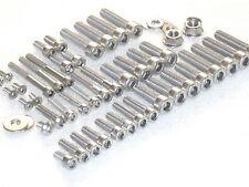 Suzuki RG125 Gamma Engine & Cylinder 47pc Stainless Allen Bolt Nut Kit 1984-88