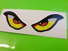Alien Ojos Auto Casco De Motocicleta van Stickers Calcomanías 1 Off Par 90mm