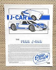 FORD GT 40 SHELBY AMERICAN RACE BRED J-CAR LE MANS CAR LITERATURE FACT SHEET 32