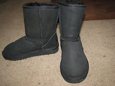 NEW Kids Black Suede Ugg Brand Boots Sz. 1~Super Cozy
