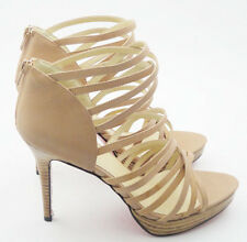 Black or Tan Strappy Platform High Heels