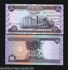 IRAQ 50 DINARS IRAQI P-90 2003 Replacement 99 UNC GRAIN DATE PALM MONEY BANKNOTE