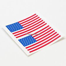 2x USA AMERICAN FLAG Laminated Car,Window,Bumper,Laptop Vinyl Decal Stickers