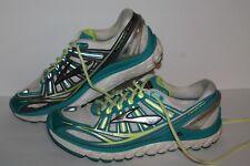 Brooks Transcend Running Shoes, #1201501B195, Wht/Teal/Slvr/Grey, Women's 9.5