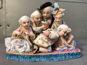 Rare Antique 19th century Jean Gille Paris Bisque Porcelain Children Figurine