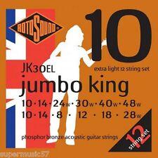 Rotosound JK30EL Jumbo King Phosphor Bronze 12 String Acoustic Guitar ExtraLight