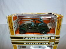 BRITAINS 9783 GERMAN SCOUT CAR - MILITARY - ARMY GREEN 1:43 - GOOD IN BOX