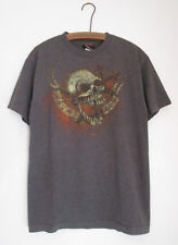Miami Ink Scull Tattoo Cotton Blend T-Shirt Medium Dark Gray