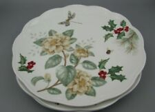 Lenox Butterfly Meadow Holiday Jasmine 8 Dinner Plates Dragonfly