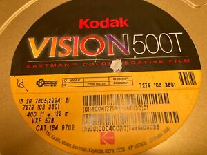 3 cans Sealed Unopened NOS Kodak Film 400' Vision 500T New (Old Stock) 16mm 7279