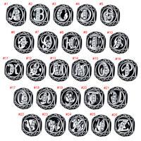 European Silver CZ Letter Charms Beads Pendant FOR 925 sterling Bracelet Chain