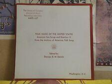 FOLK MUSIC OF THE UNITED STATES SEA SONGS SHANTIES DUNCAN B M EMRICH LP AAFS L27