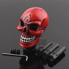 Universal Resin Skull Head Manual Car Gear Stick Shift Knob Shifter Lever Red