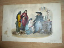 PEROU PERUVIENS LITHOGRAPHIE REHAUSSEE EN COULEURS 1860