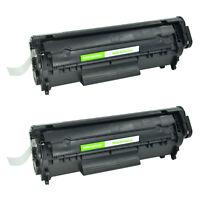 2 Pack New Q2612A Black Toner Compatible for HP 12A Cartridge LaserJet 1010 1012