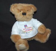 "Welcome To Las Vegas T Shirt Brown Teddy Bear Living Playful Plush 6"" Toy Lovey"