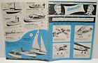 """1960 CAVACRAFT """" GAS POWERED MODELS"""" double sided Dealer Sales Catalog L@@K!"""