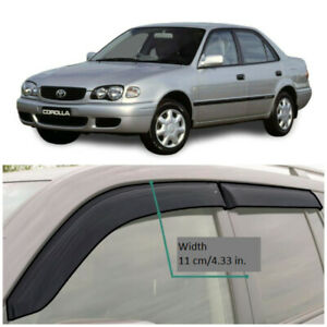 TE23997 Window Visors Vent Wide Deflectors For Toyota Corolla Sedan E110 1995-02