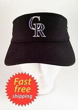 Colorado Rockies CR Major League Baseball Visor Golf Hat Cap Black One Size Fits