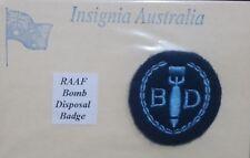 WW2 RAAF BOMB DISPOSAL PATCH - ROYAL AUSTRALIAN AIR FORCE