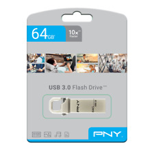 PNY Hook 3.0 Attaché 64GB USB 3.0 Pen Drive USB Stick (FDU64GBHOOK30-EF)