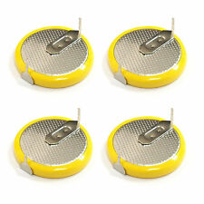 4 pcs LIR2032 Li-ion 3.6V Rechargeable Button Coin Cell Battery w/Tab US Stock