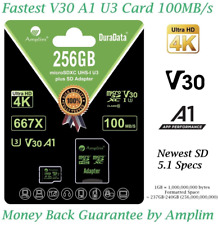 256GB Micro SD Card Plus Adapter Amplim MicroSD SDXC Memory 100MB/s 667X V30 A1