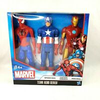 Marvel Titan Heroes 3 Pack Set Spider-Man Captain America Iron Man Action Figure