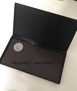 medium black compact customised portable MAGNETIC clamshell makeup Palette