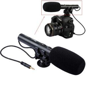 DC/DV 3.5mm Microphone f Canon EOS 1DX III/1D Mark II/7DII/6D II/5D Mark IV/ III