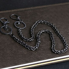 Long Metal Split Ring Clip Fashion Trouser Belt Chain Key Wallet Safety Holder