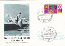 West Germany 1968 Bad Aachen Horse Trials Postcard used VGC
