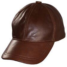 Basecap flexfit H Braun Baseballkappe Leder Schirmmütze Baseball Cap Lederkappe