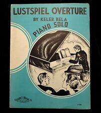 Lustspiel Overture Sheet Music 1935 Keler Bela Piano Solo P526 Arr Glickman